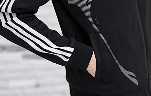 Ning Night Uomo Sportivo Autunno E Inverno Traspirante E Pantaloni Comoda Giacca A Due Pezzi di Moda in Corso Casual Wear,Rosso,2XL