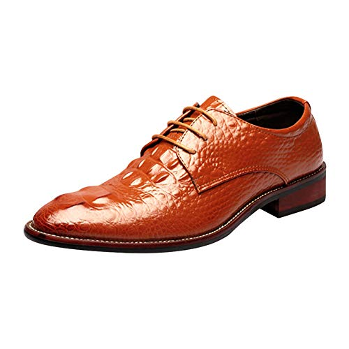 Soup Embossed - Kivors Crocodile Pattern Men's Oxfords Luxury Dress Embossed Genuine Leather Shoes