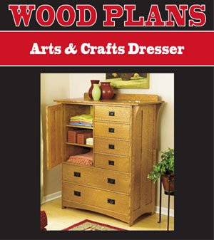 ARTS AND CRAFTS DRESSER WOODWORKING PAPER PLAN - Arts Crafts Woodworking Plans