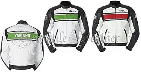 Yamaha rayas chaqueta de piel de moto motocicleta Racing ...