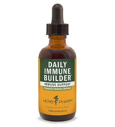 Herb Pharm Daily Immune Builder Herbal Immune System Defense Liquid - 2 Ounce