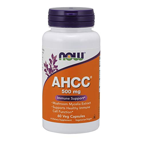 NOW AHCC 500mg,60 Veg Capsules