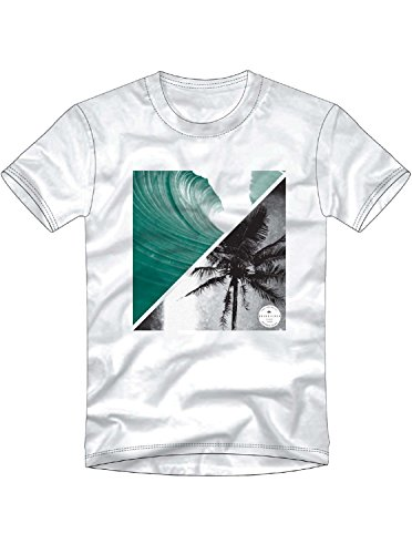 Quiksilver Men's Colorful Night Tee Shirt, White, ()