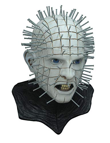 Ghoulish Productions Men's Monster Horror Hellraiser III Pinhead Mask Halloween Costume Accessory -