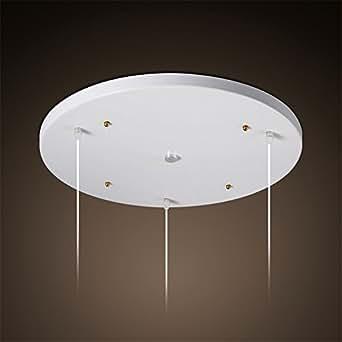 BRIGHTLLT Lámpara de techo retro LED redondo triple cabezal ...