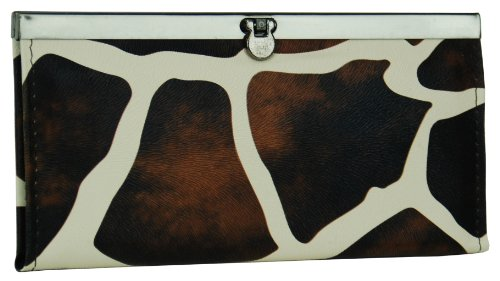 Giraffe Print Clutch Wallet with Choice of Colors - Accordian Clutch