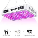 LED Grow Light for Indoor Plants - 300W Full Spectrum with UV IR Adjustable Hanger Rope for hydroponic Veg Flower