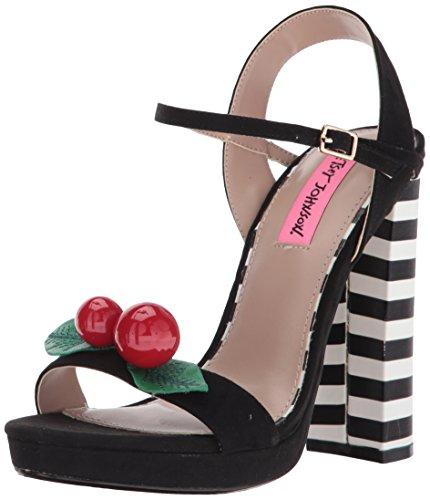 Betsey Johnson Women's Izzie Dress Sandal, Black, 10 M (Betsey Johnson Ladies Platform)