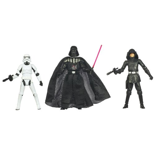 Kenner Star Wars A New Hope Special Exclusive Action Figure 3Pack Villain Set Stormtrooper, Darth Vader, Death Squad (Action Figure Stormtrooper Commander)