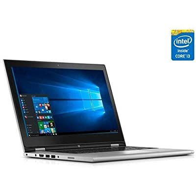 "2016 Newest Dell Inspiron 13 13.3"" HD 2-in-1 Touchscreen Pemium Laptop PC, Intel Core i3-5010U Processor, 4GB RAM, 500GB HDD, Webcam, WIFI, Bluetooth, Windows 10, Silver"