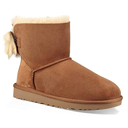 UGG Women's W Fluff Bow Mini Fashion Boot,
