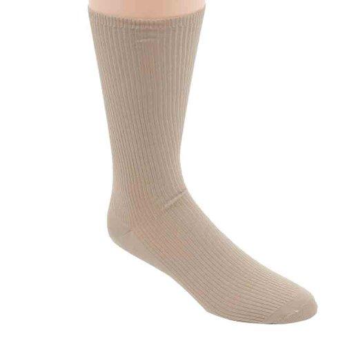 Calvin Klein Men's Sock's 3 Pack Non Binding Crew, Sand, Shoe Size 7-12 ()
