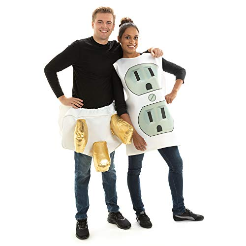 Funny Costume Ideas For Couples At Halloween (Plug and Socket Couples Halloween Costume - One-Size Sexy, Funny Adult)