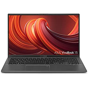 "ASUS VivoBook 15 Thin and Light Laptop, 15.6"" Full HD, AMD Quad Core R5-3500U CPU, 8GB DDR4 RAM, 256GB PCIe SSD, AMD Radeon Vega 8 Graphics, Windows 10 Home, F512DA-EB51, Slate Gray"