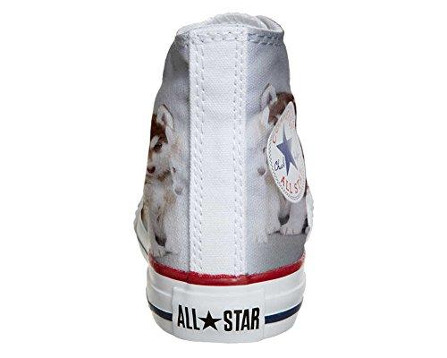 CONVERSE personalizzate All Star Sneaker unisex (Prodotto Artigianale) Cuccioli Husk