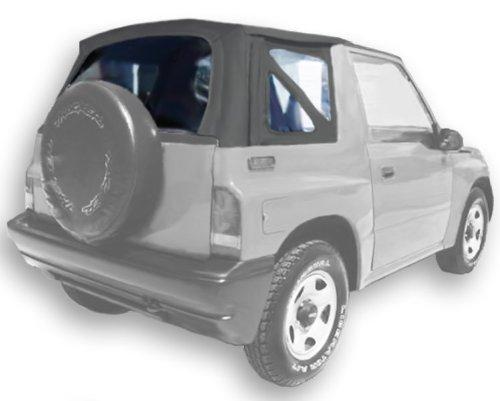 (Acme C734/Green-SC1242 Quartz on Grey Sailcloth Vinyl SUV Soft Top for Suzuki Vitara / Chevrolet Tracker)