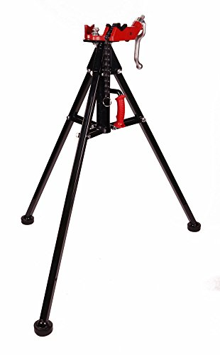 (Toledo Pipe 425 Stand Portable Tripod Chain Vise works with RIDGID 12R 700 Pipe Threader)