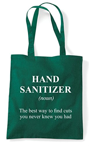 Bag Hand Shopper Alternative Green Dark Tote The Sanitizer Not In Funny Definition Dictionary fxzfqrw4C