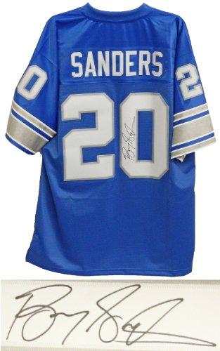 (Barry Sanders Signed Lions Blue NFL Pro Line Vintage Premier Jersey - Schwartz COA)