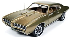 1969 Pontiac GTO Hardtop Antique Gold Hemmings Muscle Magazine Limited Edition to 1002pc 1/18 by Autoworld AMM1081 by Pontiac