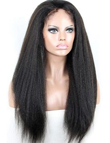 Search : Chantiche Natural Looking Italian Yaki Lace Front Wigs Best Brazilian Remy Human Hair Wigs with Baby Hair for African Americans 130 Density 20 Inch Natural Color