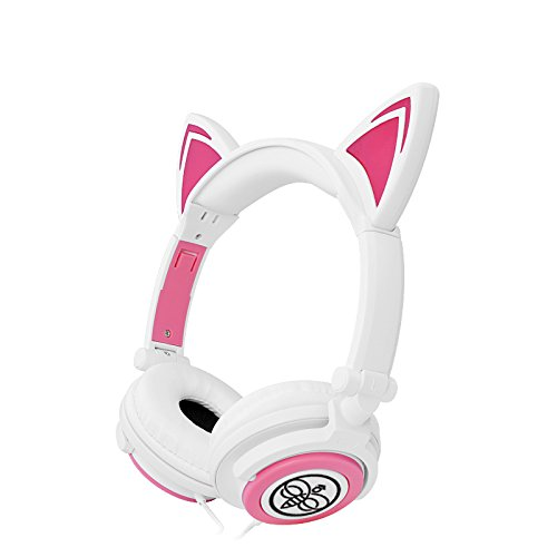 Kids Cat Ear Headphones – Foldable, Stereo On Ear ...