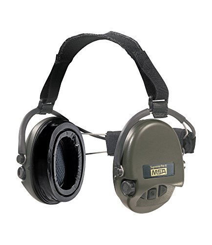 MSA Sordin Supreme Pro X with green cups - Neckband - Electronic Earmuff equipped with comfortable ear-seals, -