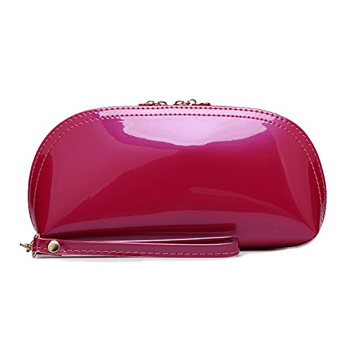 Coin Purse Wedding Handbag Sunvy for Fashion Bridal Bag Clutch Leather Bag Bags Zipper Women New Pink Evening Clutch Purse Cocktail Bag Clutch Shell Purple 0xxzwvHqUF