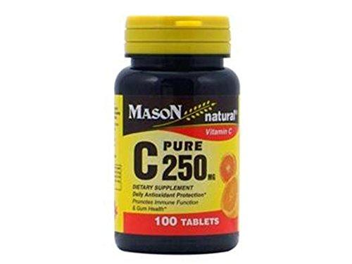 Mason Vitamins C 250 mg Pure Ascorbic Acid Tablets, 60 Count