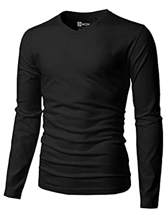 T h2h fit mens slim shirts polo casual pear