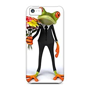 linJUN FENGDurable Cases For The iphone 5/5s- Eco-friendly Retail Packaging(frog 3d)