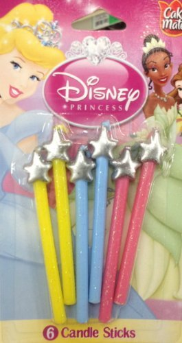 (Betty Crocker - Disney PRINCESS Candle Sticks - 6 Pieces )