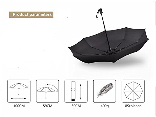 Compact Travel Umbrella - Windproof,Reinforced Canopy,Auto Open/Close by KaKa Shaw (Image #5)