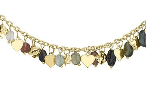 Collier Chaîne Belcher or jaune 9carats pendantes Tourmaline Multicolore 43cm/17'