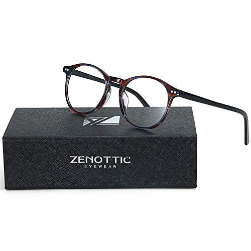 ZENOTTIC Small Round Clear Lens Glasses Non-Prescription Eyeglasses Frames for Women Men ()