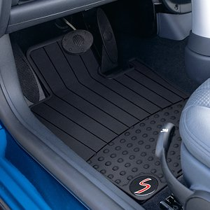 "MINI COOPER S Genuine Factory OEM 82550306793 ""S"" Logo Front All Season Floor Mats 2002 - 2006 (set of 2 front mats)"