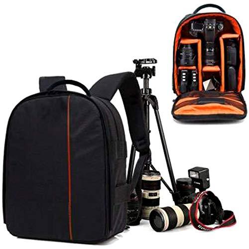 WORLD LOOK Shoulder Backpack to Carry DSLR SLR Lens Camera Bag (Orange, Black)