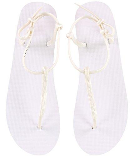 Aeropostale Womens Solid Flip Flop Sandals, White, 7 B(M) US