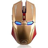Rato sem fio de 2,4 Ghz, mouse de computador sem fio silencioso de seis botões com mouse USB portátil ajustável 1200…