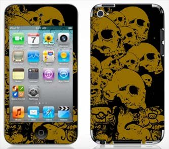 - Gold Skulls Skin for Apple iPod Touch 4G 4th Generation
