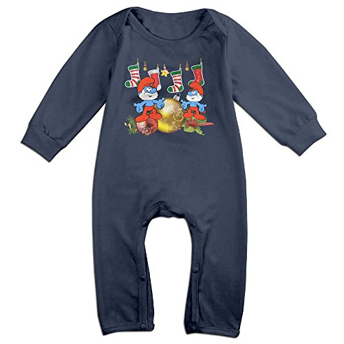 [VanillaBubble The Smurfs And Christmas For 6-24 Months Newborn Funny Baby Climbing Clothes Navy Size 18] (Bay Watch Costumes)