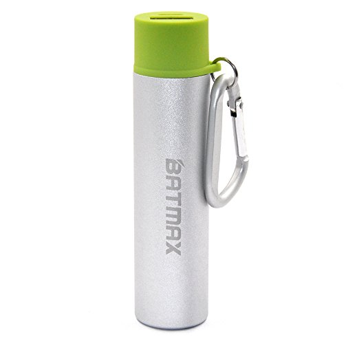 Batmax Universal Power Bank 3350mAh Compact Lipstick Size Mini Backup Power Protable Charger Compatible with Mobile Phones iPad iPhone Samsung USB Charged (Green)