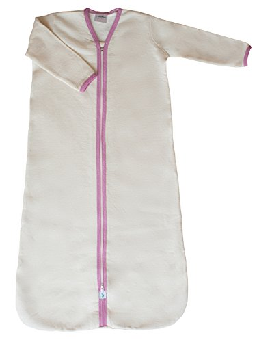 CastleWare Baby Long Sleeve Fleece Sleeper Bag (Med. 6-12 Mos., Rose Pink) by CastleWare Baby
