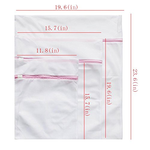 OEXEO Laundry Wash Mesh Bags, Set of 7 (2 Large, 2 Medium, 2 Small and 1 Bra Bag) by OEXEO (Image #6)