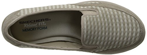 Relaxed Women's Skechers Mule Taupe Living Comforter r5qwUqd