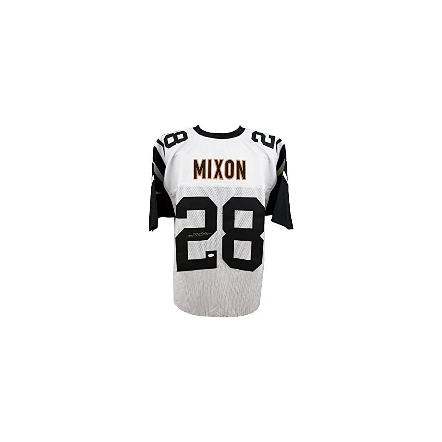 Joe Mixon Autographed Cincinnati Bengals Custom Color Rush Football Jersey JSA