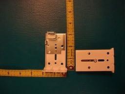 Single Rod Drop-In Brackets from KIRSCH, for Superfine Traversing Rod