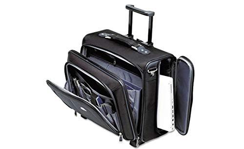 Side Loader Office Rolling Laptop Case Nylon 17 1/2 x 7 1/2 x 15 Black ()