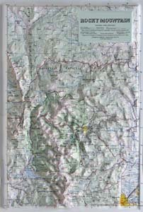 American Educational Products Raised Relief Map 404 Rocky Mountain National Park