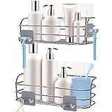 Orimade Shower Caddy Basket Shelf with Hooks for